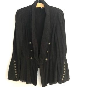 Free People Throwback Corduroy Blazer in Black